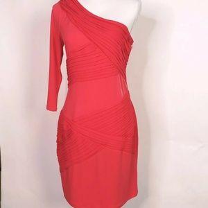 Gianni Bini Bodycon Bandage One Shoulder Dress M